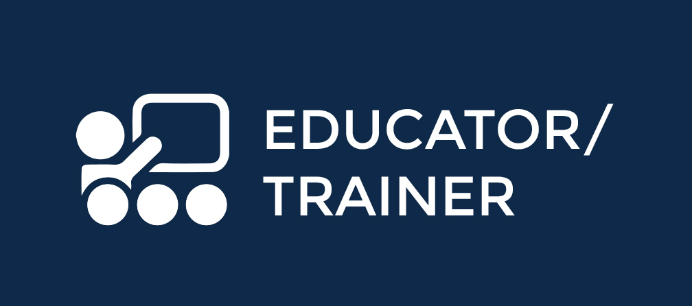 educator and trainer button