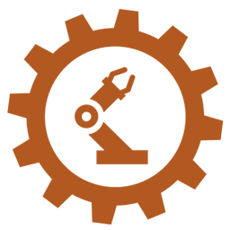 Chemical and plastics manufacturing gear icon