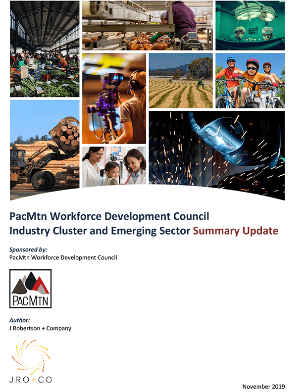 Industry Cluster and Emerging Sector Summary Update
